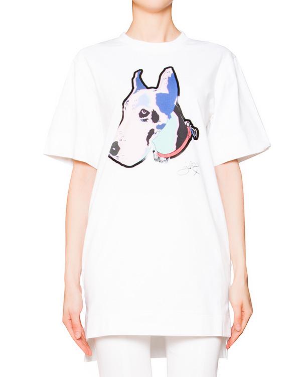 футболка из мягкого эластичного хлопка с ярким принтом артикул GL1405L09 марки Giles купить за 12700 руб.