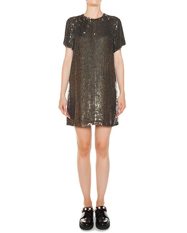 платье мини из вискозы с отделкой пайетками артикул GLAST720714 марки P.A.R.O.S.H. купить за 33000 руб.