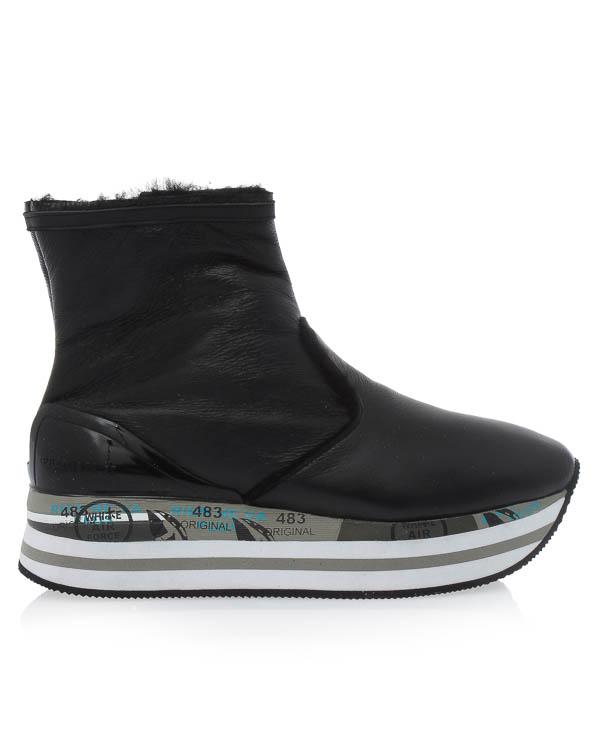 ботинки Grace из кожи и меха артикул GRACE2723 марки Premiata sport купить за 25500 руб.