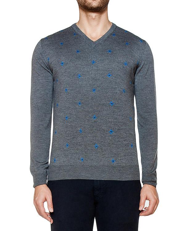 пуловер из мягкого шерстяного трикотажа  артикул H1686 марки Harmont & Blaine купить за 9200 руб.