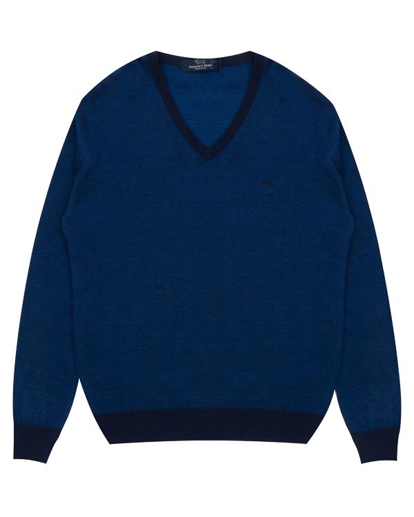пуловер прямого силуэта из шерсти артикул H1770 марки Harmont & Blaine купить за 15800 руб.