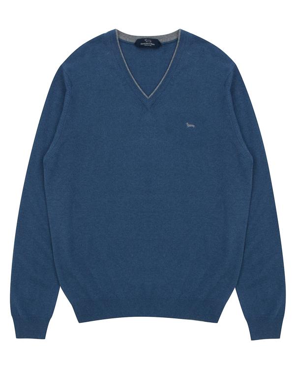 пуловер прямого силуэта с фирменной вышивкой  артикул H2151 марки Harmont & Blaine купить за 12000 руб.
