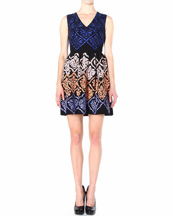 платье приталенное, с пышной юбкой и ярким вышитым принтом артикул H4GIRR марки Manoush купить за 22500 руб.