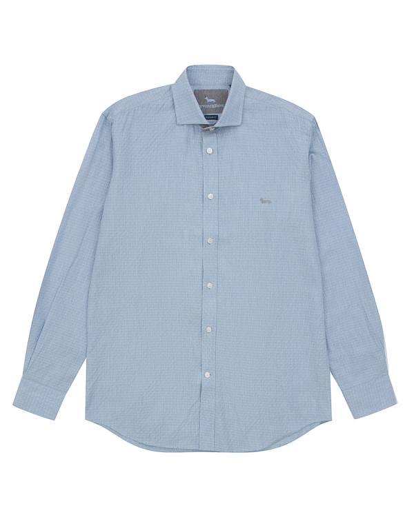 рубашка классического кроя из хлопка, вискозы и шерсти артикул HBC0327 марки Harmont & Blaine купить за 11200 руб.