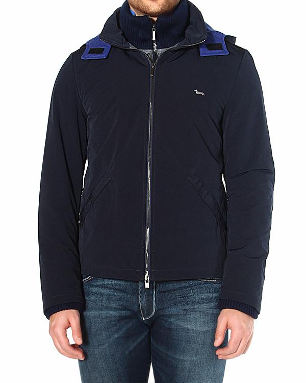 куртка с высоким воротом-стойкой и объемным капюшоном артикул HBK0546 марки Harmont & Blaine купить за 13400 руб.