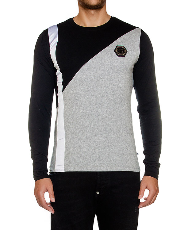 футболка из хлопкового трикотажа с логотипом бренда артикул HM331034 марки PHILIPP PLEIN купить за 13800 руб.