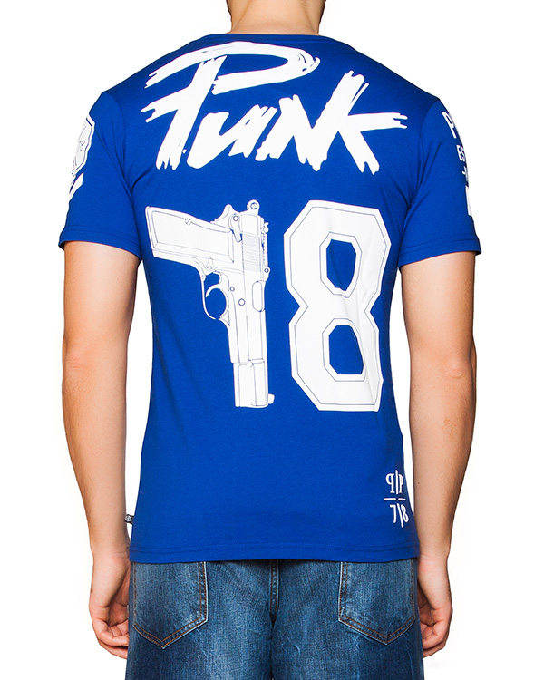 мужская футболка PHILIPP PLEIN, сезон: лето 2016. Купить за 12800 руб. | Фото 2