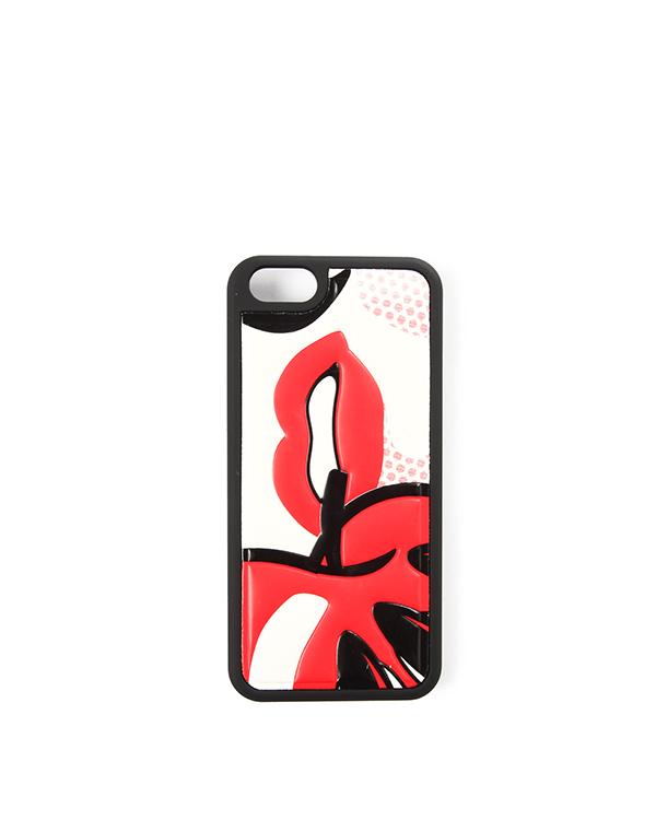 чехол для iPhone с принтом для модели iPhone 5/5S артикул HQP00137 марки Valentino Red купить за 2000 руб.