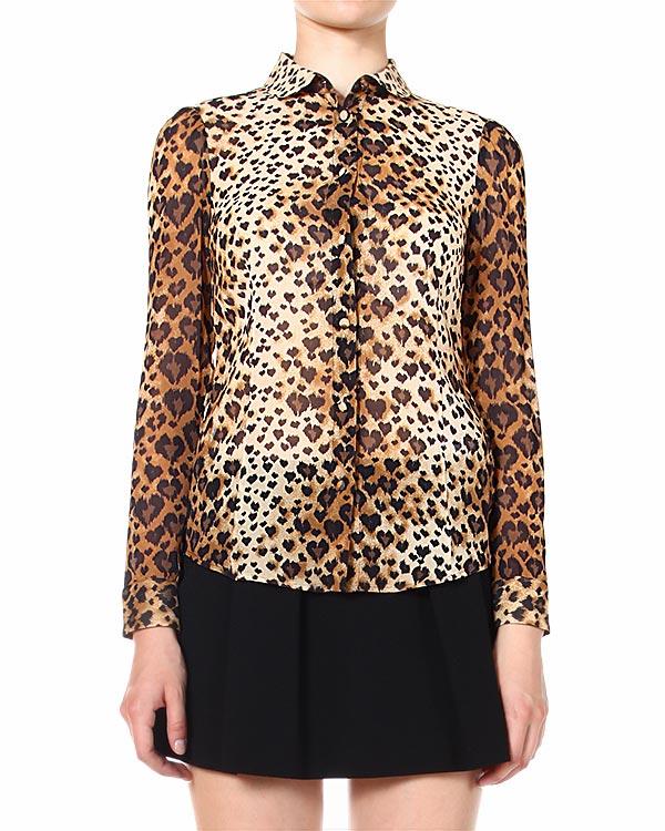 блуза из полупрозрачного шелка с принтом
