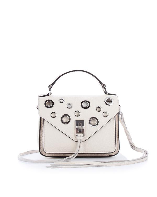 сумка Darren Messenger с отделкой металлическими люверсами артикул HU17EDGX28 марки Rebecca Minkoff купить за 23600 руб.