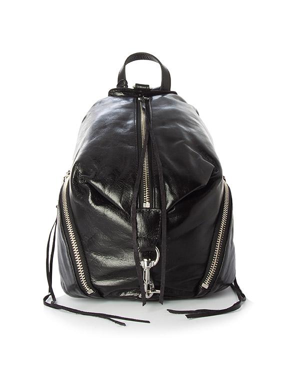 рюкзак Julian из шагреневой кожи  артикул HU17EDSB25 марки Rebecca Minkoff купить за 23000 руб.