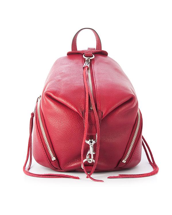 рюкзак Julian из шагреневой кожи  артикул HU17EPBB25 марки Rebecca Minkoff купить за 23000 руб.