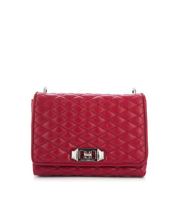 сумка Small Soft Love Crossbody из стеганой кожи красного оттенка артикул HU17ESFX44 марки Rebecca Minkoff купить за 21700 руб.