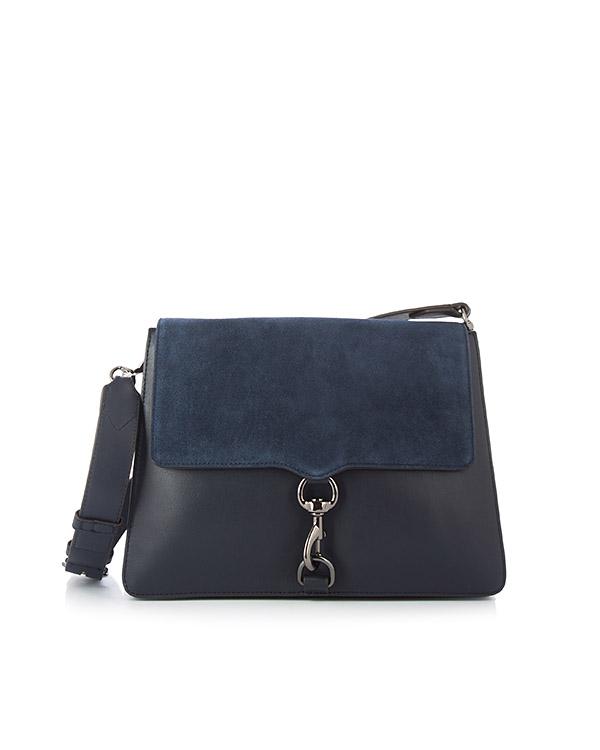 сумка M.A.B. из плотной кожи с плечевым ремнем артикул HU17GSUD19 марки Rebecca Minkoff купить за 33400 руб.