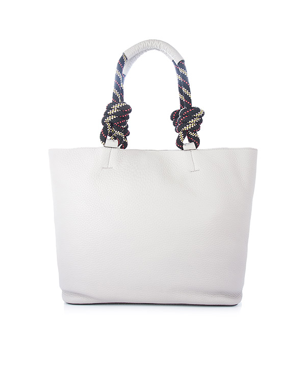 сумка Climbing Rope Tote из мягкой шагреневой кожи белого цвета артикул HU17GUPT99 марки Rebecca Minkoff купить за 33400 руб.