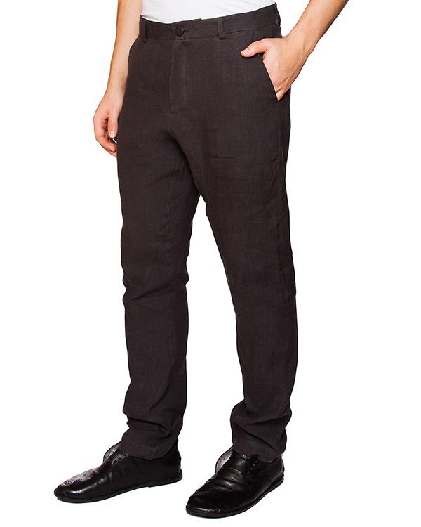 брюки прямого кроя из плотного льна артикул IB1852 марки Isabel Benenato купить за 27000 руб.