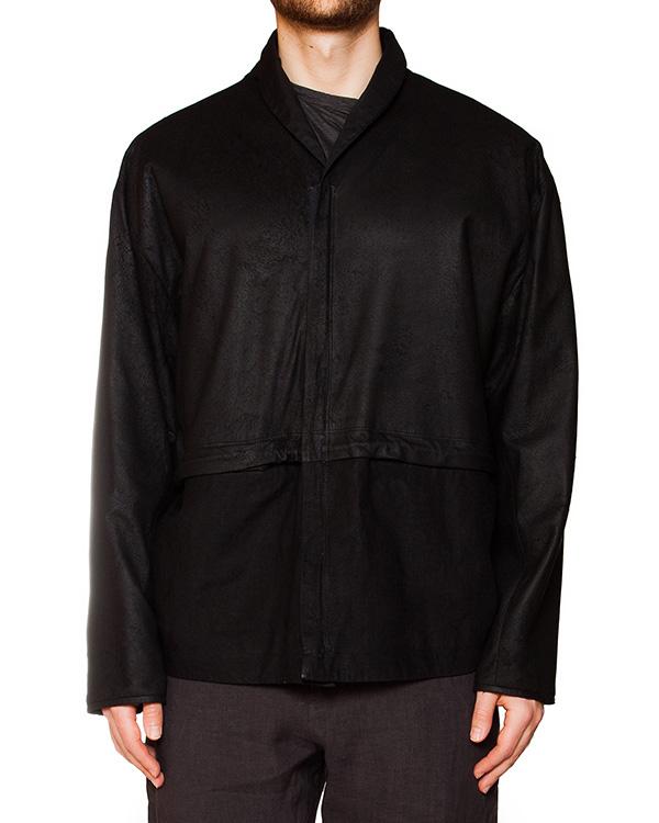 куртка из натуральной кожи, дополнена низом из плотного льна артикул IB1927 марки Isabel Benenato купить за 67000 руб.