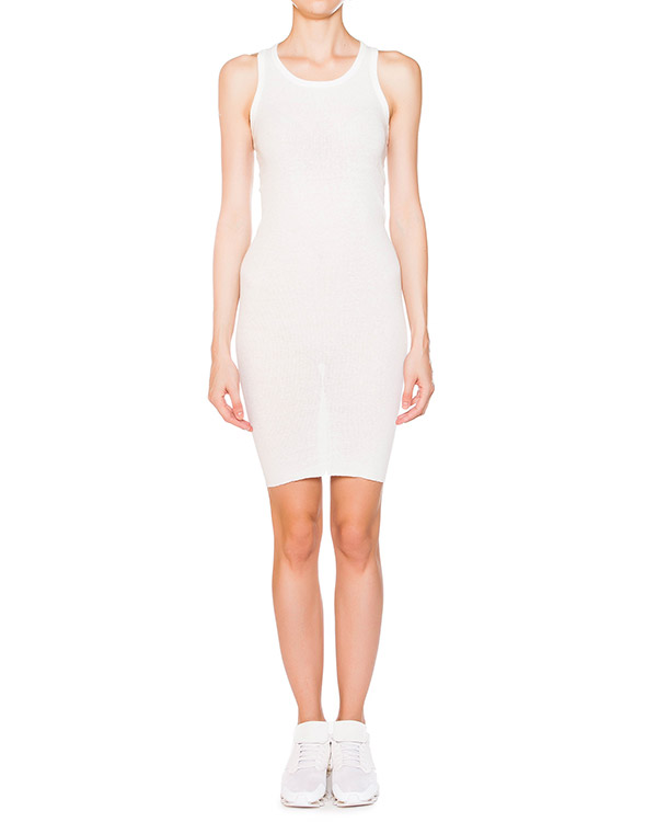 платье из эластичного тонкого хлопка в рубчик артикул IB2616 марки Isabel Benenato купить за 8100 руб.