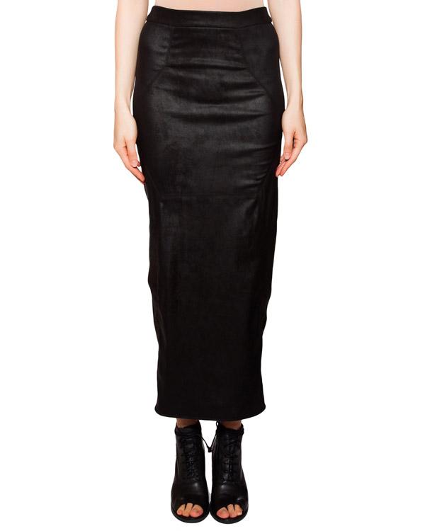 юбка обтягивающая юбка с разрезом, выполнена из эластичной потертой кожи артикул IB3136 марки Isabel Benenato купить за 46400 руб.