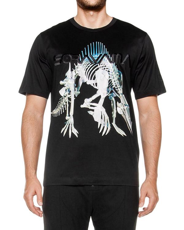 футболка из мягкой ткани с авторским принтом артикул JC6842P105 марки Juun.J купить за 8400 руб.
