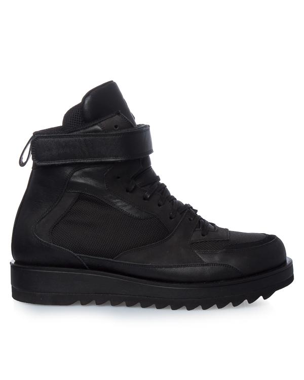 кроссовки из кожи и текстиля с глубоким протектором подошвы артикул JC78K1P025 марки Juun.J купить за 32400 руб.