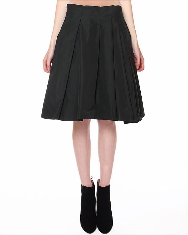 юбка драпированная складками, с прорезными боковыми карманами артикул JDD120A марки Jil Sander купить за 18200 руб.