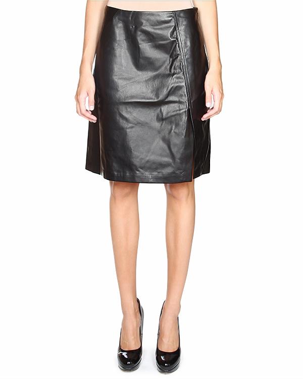 юбка с небольшим разрезом спереди и застежкой-молнией на боку артикул JDD191A марки Jil Sander купить за 22500 руб.