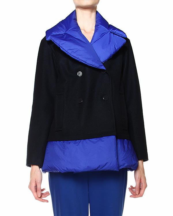 пальто с контрастной отделкой воротника и низа артикул JDD551C марки Jil Sander купить за 21500 руб.