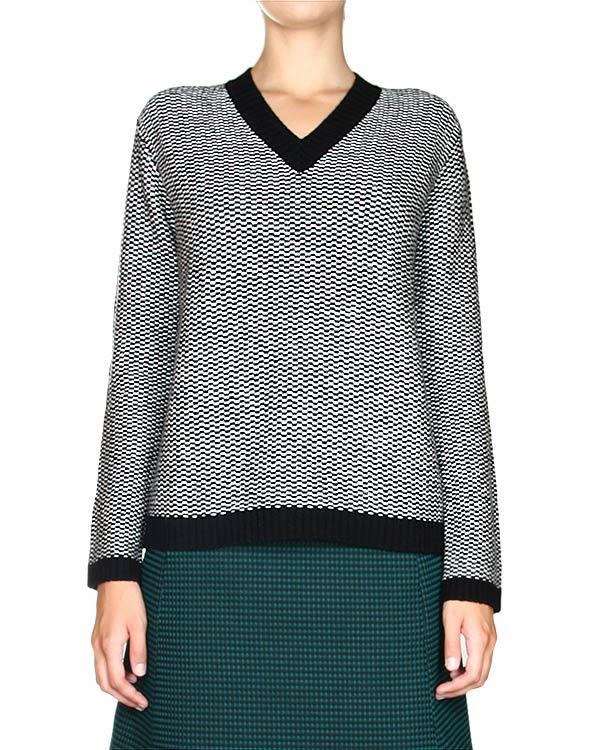 пуловер буклированной вязки, с V-образным вырезом артикул JDD650C марки Jil Sander купить за 11300 руб.