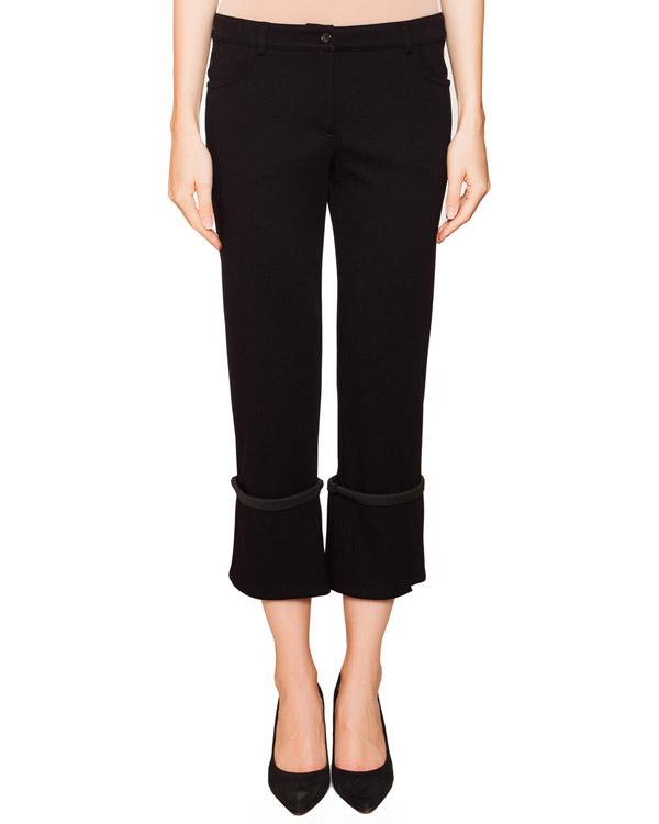 брюки прямого кроя из мягкого трикотажа с широкими отворотами артикул JDF210A марки Jil Sander купить за 11700 руб.