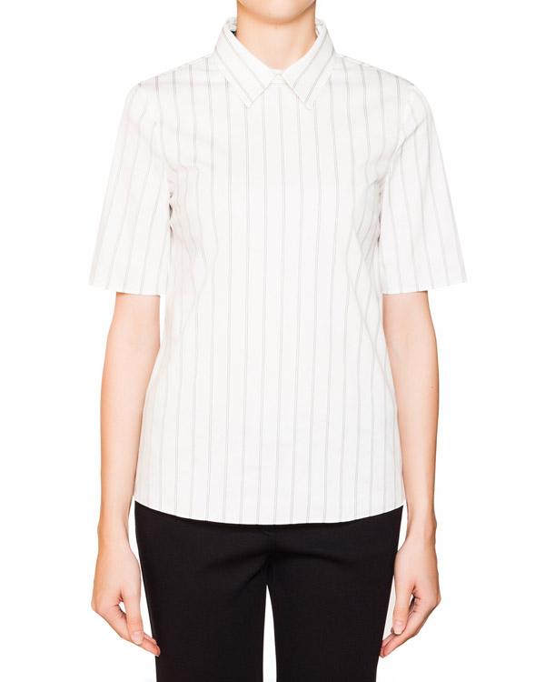 блуза из хлопка в тонкую полоску артикул JDF324A марки Jil Sander купить за 8900 руб.