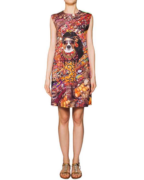 платье из тонкой эластичной ткани с ярким абстрактным рисунком артикул JEWELRY марки The Artistylist купить за 19600 руб.