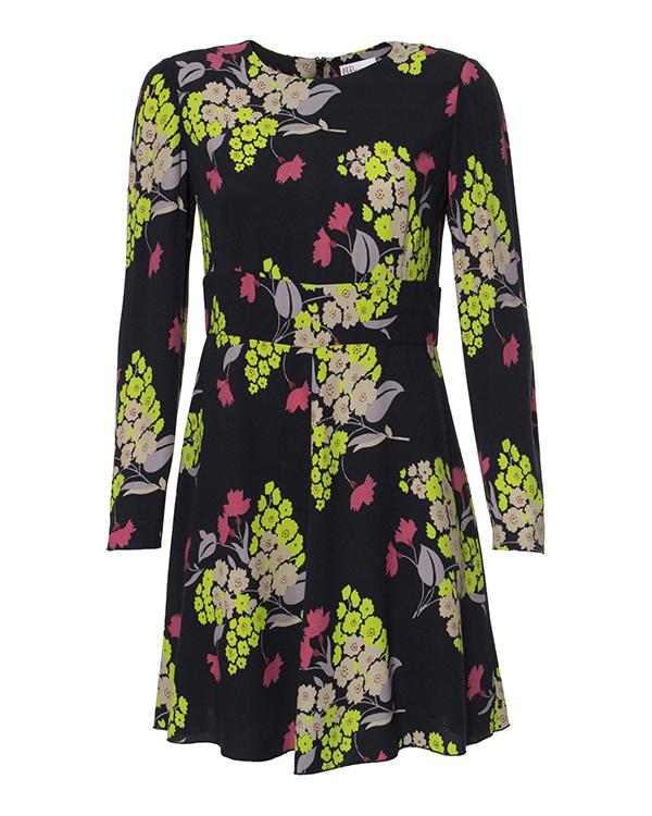 платье из легкой ткани с цветочным рисунком артикул JG0VA1N6 марки Valentino Red купить за 22900 руб.
