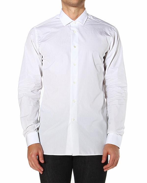 рубашка приталенного кроя, с тонкими вертикальными полосками артикул JG165017C марки Mauro Grifoni купить за 7600 руб.