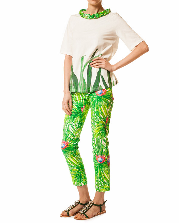 женская брюки JO NO FUI, сезон: лето 2014. Купить за 8400 руб. | Фото 3