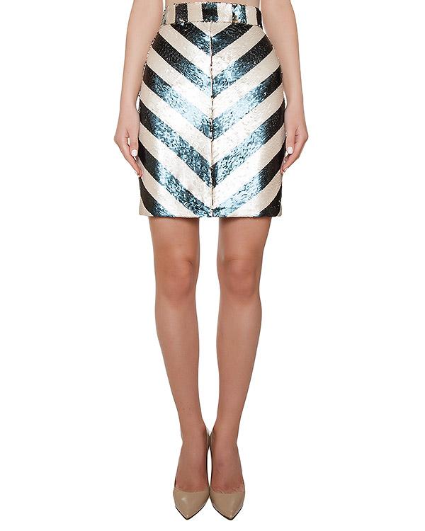 юбка расшитая цветными пайетками артикул KFW1607 марки Kalmanovich купить за 26900 руб.