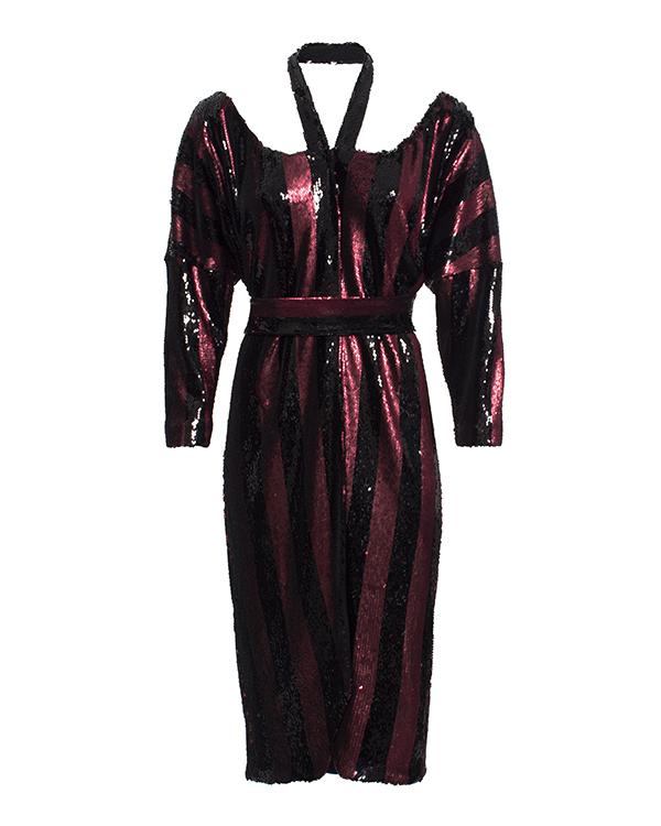 платье полностью расшитое цветными пайтеками артикул KFW1619 марки Kalmanovich купить за 50400 руб.