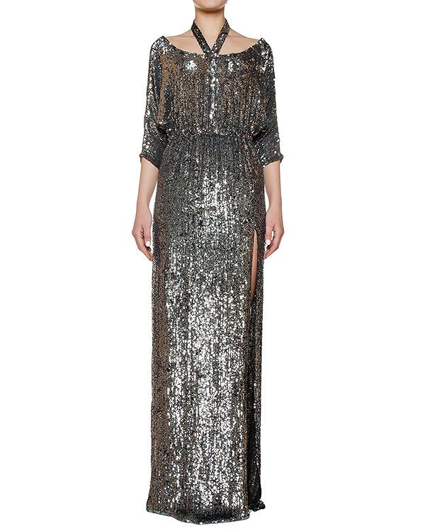 платье в пол, полностью расшитое пайтеками артикул KFW1646 марки Kalmanovich купить за 96600 руб.
