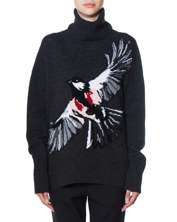 свитер объемного силуэта из шерсти  артикул KN2105 марки Markus Lupfer купить за 27500 руб.