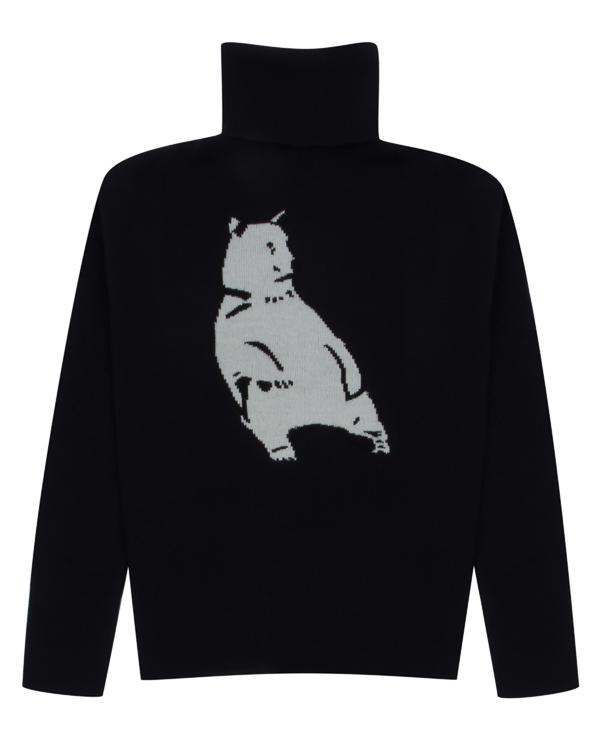 свитер из шерсти с принтом-медведь артикул KN2194 марки Markus Lupfer купить за 29100 руб.