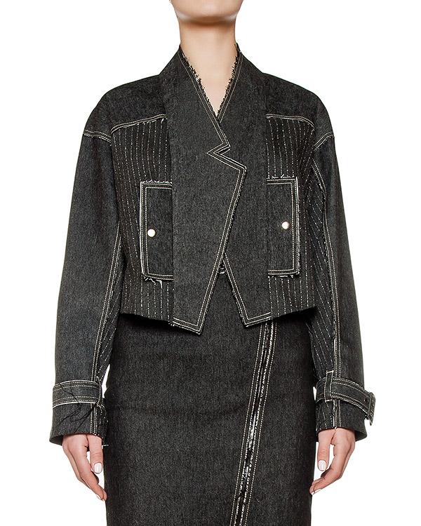 куртка укороченного кроя из плотного хлопка в тонкую полоску артикул KSS1627 марки Kalmanovich купить за 29400 руб.