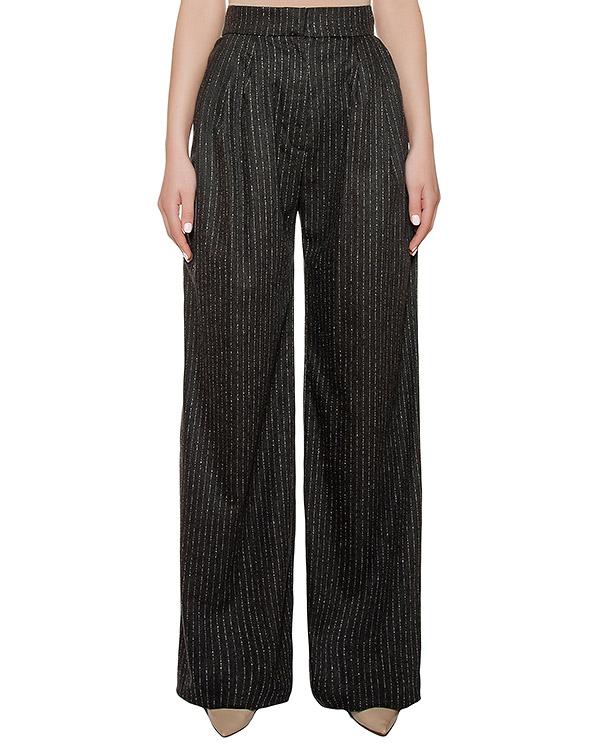 брюки широкие из шерстяной ткани в тонкую полоску артикул KSS1628 марки Kalmanovich купить за 21000 руб.