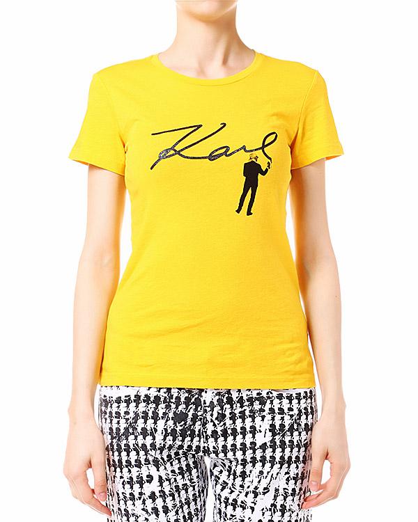 женская футболка KARL LAGERFELD, сезон: лето 2014. Купить за 2700 руб. | Фото 1
