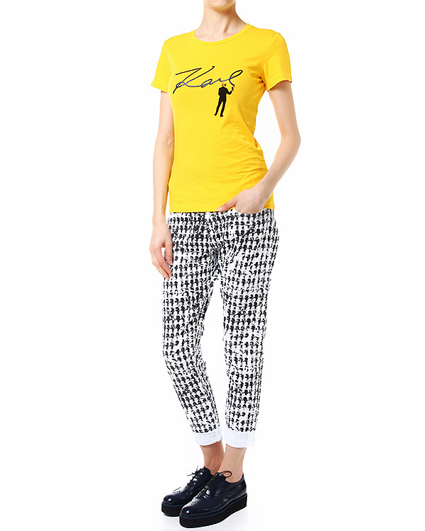 женская футболка KARL LAGERFELD, сезон: лето 2014. Купить за 2700 руб. | Фото 3
