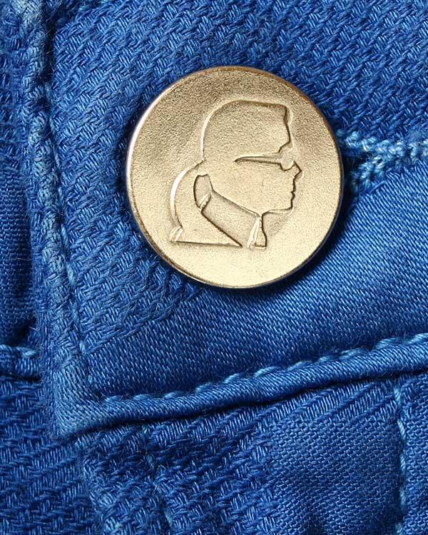женская джинсы KARL LAGERFELD, сезон: лето 2014. Купить за 5600 руб. | Фото 4