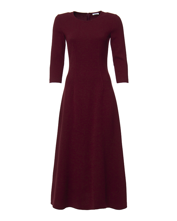 платье приталенного кроя из мягкой шерсти артикул LAKIXY700009 марки P.A.R.O.S.H. купить за 18900 руб.