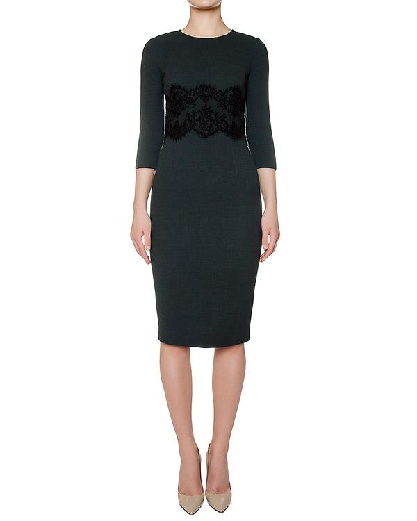 платье из шерстяного трикотажа, украшено кружевной вставкой артикул LAKIXY700011Z марки P.A.R.O.S.H. купить за 18400 руб.