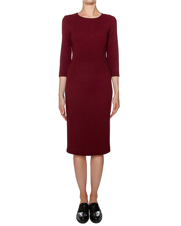 платье футляр приталенного кроя из мягкой шерсти артикул LAKIXY700011 марки P.A.R.O.S.H. купить за 15100 руб.