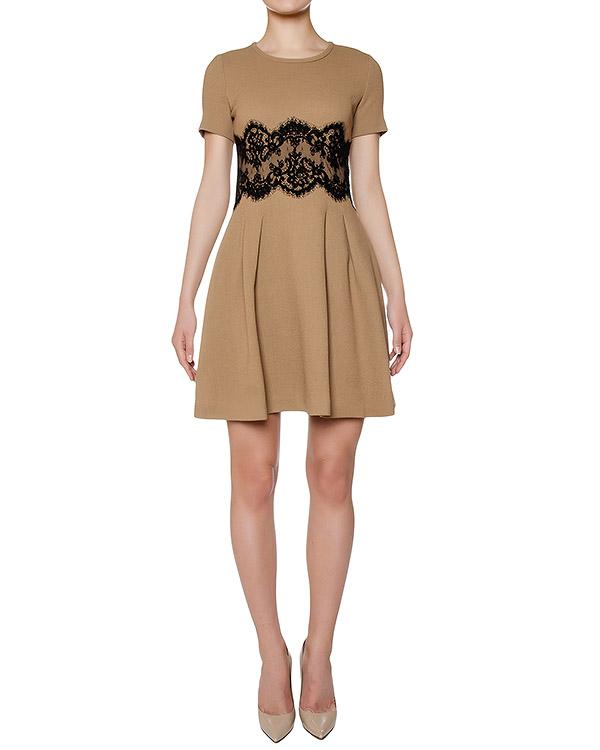 платье из шерстяного трикотажа, украшено кружевной вставкой артикул LAKIXY721061Z марки P.A.R.O.S.H. купить за 19700 руб.