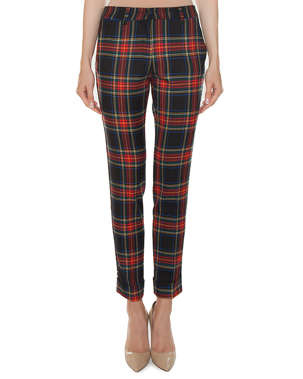 брюки из костюмной шерсти в клетку-шотландку артикул LAMIX230123B марки P.A.R.O.S.H. купить за 27300 руб.
